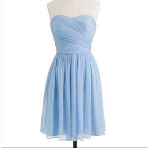 J. Crew strapless blue dress